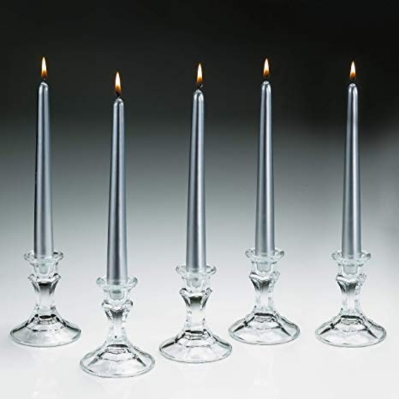 PartyLite Other - PartyLite NEW 6 Silver metallic Taper Candles